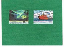 "AAT (AUSTRALIAN ANTARCTIC TERRITORY) - SG 88.89 - 1991 ANTARCTIC TREATY AND SHIP ""AURORA ASTRALIS"" COMPLET SET  -  USED - Territorio Antartico Australiano (AAT)"