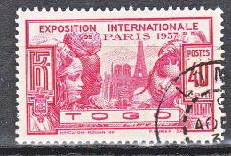 TOGO  EXPO 1937 N� 167 OBL TTB