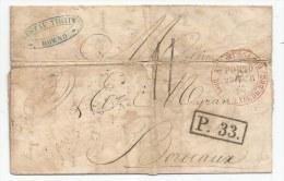 - Lettre - RUSSIE Empire - KOWNO - PORT DU Taxée - 1865 Voir - 1857-1916 Empire