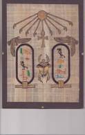 AUTHENTIQUE PAPYRUS ÉGYPTIEN  24 / 8 Cm Dans Sont Encadrement Le Scarabée Comme Neuf - Art Oriental