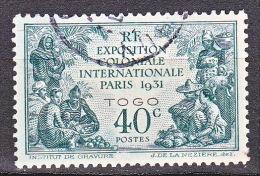 TOGO  EXPO 1931 N� 161 OBL TTB