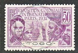 TOGO EXPO 1931  N� 162 OBL TTB