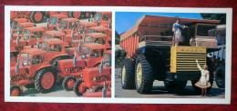 Belarus Tractors And BeLAZ Tip-up Lorries - Trucks - Minsk - 1980 - Belarus USSR - Unused - Belarus