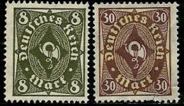 Allemagne - Année 1922-23 - Y & T  N° 202 Et 210 * Sans Gomme - Neufs