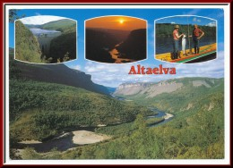 ★★ ALTAELVA  ★★ AUNE PC. NICE CANCEL KAUTOKEINO.  ALTA RIVER. NORTH NORWAY!! ★★ - Norvège