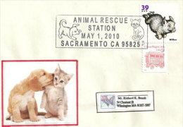 USA. Adopt A Pet., Adoptez Un Chat Ou Chien ,Sacramento, Californie,  Enveloppe Souvenir 2010 - Cani