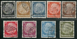 Allemagne - Année 1933-36 - Y & T N° 483 à 485 -488 à 491 -493- 494 Oblitéré Voir Descriptif - Allemagne