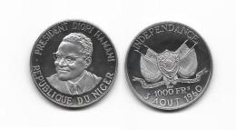 NIGER . DIORI  HAMANI .  1000 FRANCS . 1960 . ESSAI . - Niger