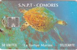 COMOROS ISL. - Marine Turtle(red CN At Centre), Chip SC7, Used - Comoros