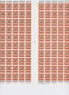 ANDORRE 153B (FEUILLE DE 100) - Unused Stamps