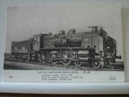 LES LOCOMOTIVES FRANCAISES - P.O. LONGUEUR 11m448 POIDS EN ORDRE DE MARCHE 67.800 KGS (EDITION F.FLEURY PARIS N° 024) - Gares - Avec Trains