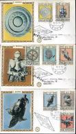 1974 ARMATURE ANTICHE 3 FDC SAN MARINO FILAGRANO - FDC