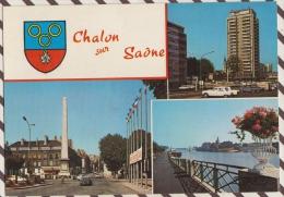 3AD107 CHALON SUR SAONE MULTI VUES 2 SCANS - Chalon Sur Saone