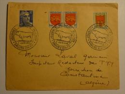 France Lettre Ancienne (souvent Plusieurs Scans) Journée Francois Pompon  Saulieu 1949 - Gedenkstempels