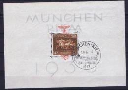 Deutsche Reich 1937 Mi Block 10, Cancel München-Riem
