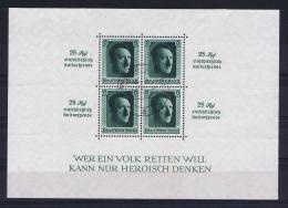 Deutsche Reich 1937 Mi Block 11, Canceled - Blocks & Kleinbögen