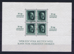 Deutsche Reich 1937 Mi Block 11, Canceled