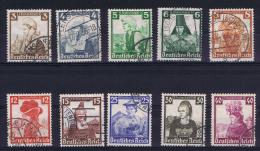 Deutsche Reich 1935 Mi 588 - 597 Used