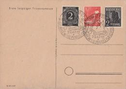 Gemeina. Karte Erste Leipziger Friedensmesse Mif Minr.912,943,945 SST 2.9.47 - Gemeinschaftsausgaben
