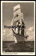 ALTE POSTKARTE SEGELSCHULSCHIFF HORST WESSEL Schulschiff Segelschiff Clipper Sailing Drill Ship Foto Ferdinand Urbahn - Guerra