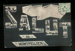 CPA 34 MONTPELLIER Salut De - Cachet Brazey En Plaine 1905 Aubigny - Montpellier