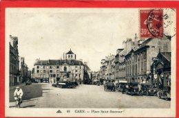 CAEN PLACE SAINT SAUVEUR GARAGE FORD CARTE EN BON ETAT - Caen