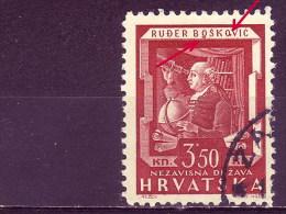 RUGJER BOSKOVICH-RUÐER BOŠKOVIC-TELESCOPE-ASTRONOMER-MATHEMATICIAN-3-50-ERROR-NDH-CROATIA-1943 - Astronomy