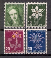 Switzerland 1946 - Rodolphe Toepffer And Flowers - Switzerland