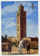 Maroc--MARRAKECH--La Koutoubia (animée,vendeurs D´eau ) Cpm   N° 5368 B  éd  Jeff édition - Marrakech