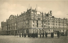 RUSSIA - MOSCOU - HOTEL METROPOLE - BUSY SQUARE - MANY PEOPLE - V/F VINTAGE ORIGINAL POSTCARD - Russie