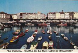 Postal España Coruña Ciudad En La Que Nadie Es Forastero Marina Puerto Vi580 1961 - La Coruña