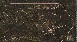 1722 Space Cosmos Salut GOLD 1972 Ras Al Khaima 1v Set MNH ** - Asia