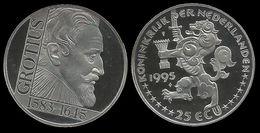 PAYS - BAS . GROTIUS .  25 ECU . 1995 . - [ 8] Monnaies D'or Et D'argent