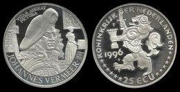 PAYS - BAS .  JOHANNES VERMEER . 25 ECU . 1996 . - [ 8] Monnaies D'or Et D'argent