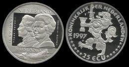 PAYS - BAS . PETER I  ET BEATRIX .  25 ECU . 1997 . - [ 8] Monnaies D'or Et D'argent