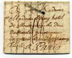 Lettre de VIENNE d'un Emigr� suite � la REVOLUTION FRANCAISE / Marque d'AUTRICHE + ALLEMAGNE PAR STARSBOURG / 9 Mars1812