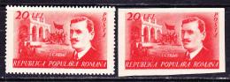 ROMANIA- Scott # 702 -703. - 1948-.... Republics