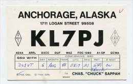 QSL-CARDS - AK 158424 USA - Alaska - Anchorage - Radio Amateur