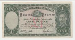 AUSTRALIA 1 Pound 1942 VF+ P 26b  26 B - Tweede Wereldoorlog Uitgaven