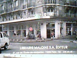 FRANCE PARIS RUE DE L'ECOLE DE MEDECINE LIBRAIRIE MALOINE LIBRERIA S1982  EF25 - Education, Schools And Universities