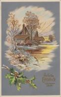 Neujahrskarte Gold - Prägedruck Gelaufen 30.12.11 - Neujahr