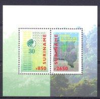 Mmv1037 30 JAAR NATUURRESERVATEN STINASU BOMEN TREES LANDKAART MAP SURINAME 1999 PF/MNH - Milieubescherming & Klimaat