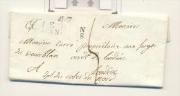 Maine Et Loire , Le Lion D´angers , Marque 47 Le Lion D´angers Du 17 Sept 1818 - 1801-1848: Voorlopers XIX