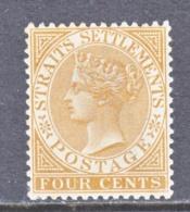 Straits Settlements  44  *  Wmk. 2 - Straits Settlements