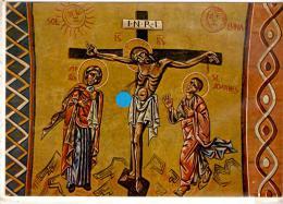 """CHATEL-GUYON : L´église Sainte Anne - Fresques N. Greschny """" La Crucifixion """" - Châtel-Guyon"""