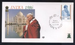 Lot 29 - Voyage Du Pape  Jean Paul II En Inde  En Juillet 1986  - - India