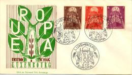 EUROPA LETTRE 1er JOUR LUXEMBOURG 1957 - Europa-CEPT