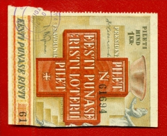 1932 ESTONIA RED CROSS LOTTERY TICKET 1 KR.  W83 - Lotterielose