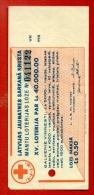 1939 LATVIA LETTLAND RED CROSS LOTTERY TICKET 0.50 LS.  W81 - Lotterielose