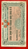 1934 LATVIA LETTLAND RED CROSS LOTTERY TICKET 2 LS.  W74 - Lotterielose